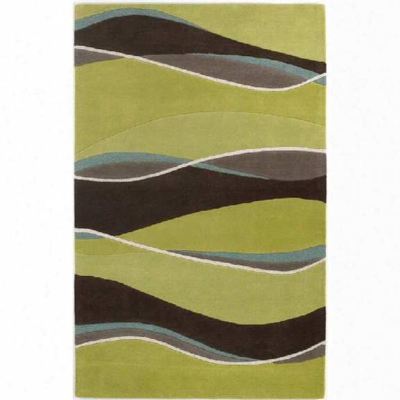 Kas Eternity 8' X 10'6 Hand-tufted Wool Rug In Lime