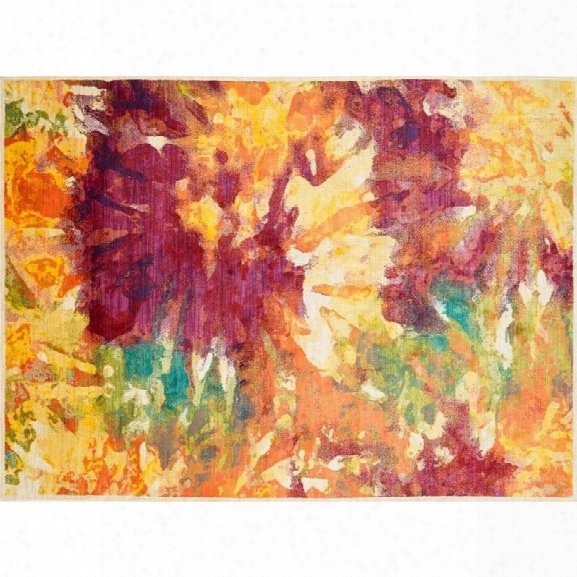Loloi Madeline 7'7 X 10'5 Power Loomed Rug In Flame