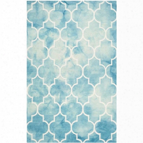 Safavieh Dip Dyed Turquoise Contemporary Rug - 9' X 12'