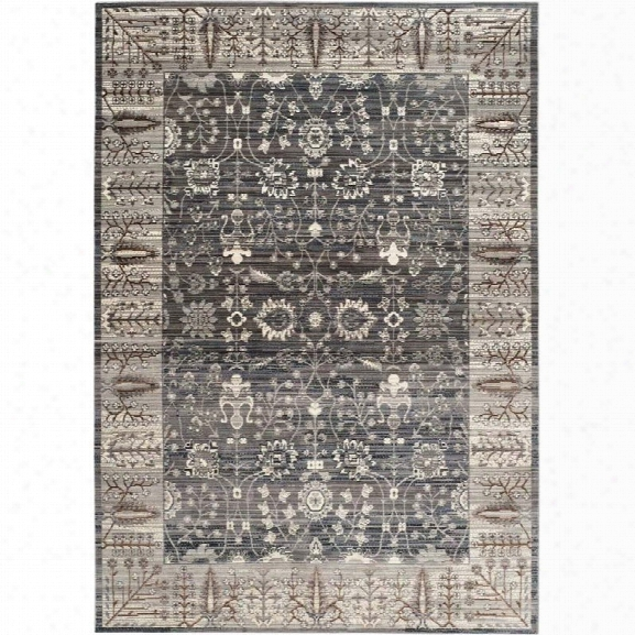 Safavieh Valencia Dark Grey Traditional Rug - 9' X 12'