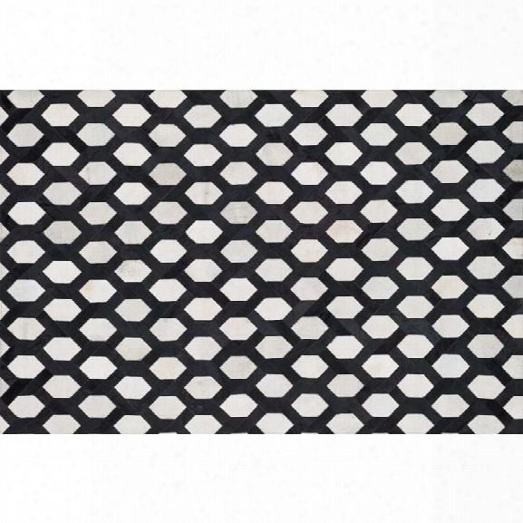 Loloi Promenade 9'3 X 13' Cowhide Rug In Ivory And Black