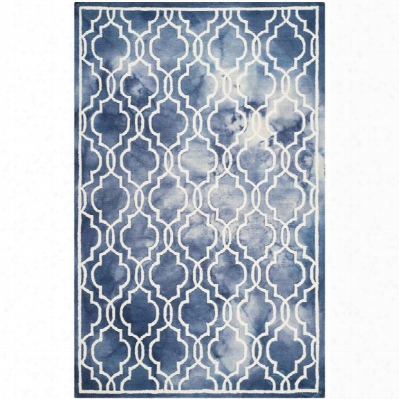 Safavieh Dip Dyed Navy Contemporary Rug - 9' X 12'