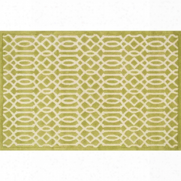 Loloi Brighton 9'3 X 13' Hand Hooked Wool Rug In Apple Green