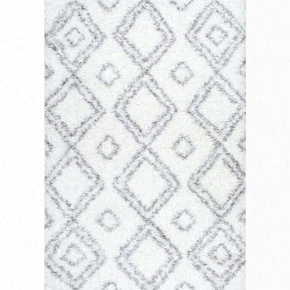 Nuloom 9'2 X 12'5 Iola Easy Shag Rug In White