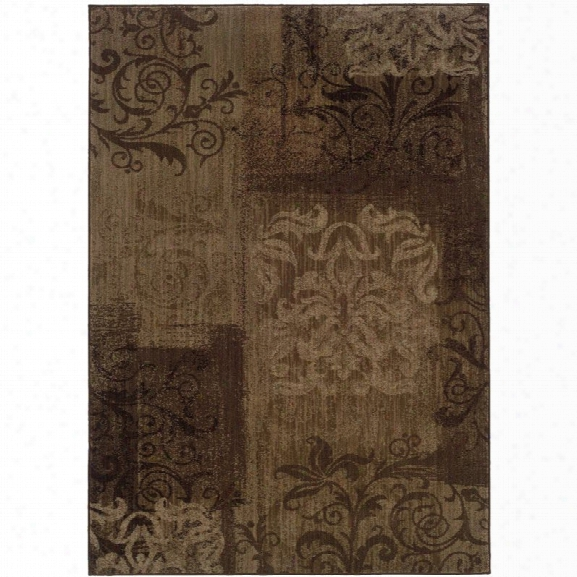 Oriental Weavers Allure 9'10 X 12'9 Machine Woven Rug In Brown