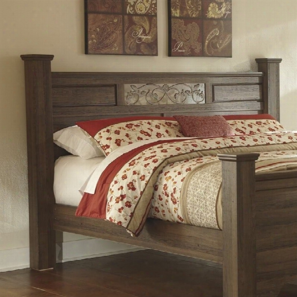 Ashley Allymore Wood King Poster Panel Headboard In Brown