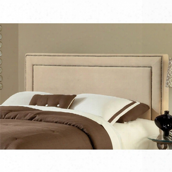 Hillsdale Amber Upholstered King Panel Headboard In Buckwheat