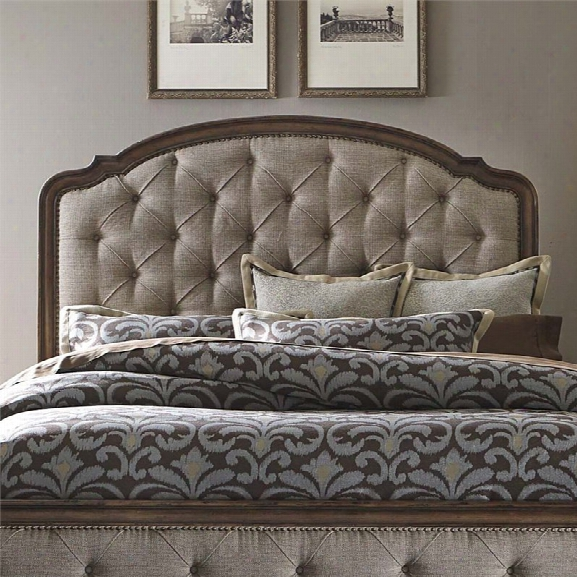 Liberty Furniture Amelia Upholstered Queen Headboard In Antique Toffee