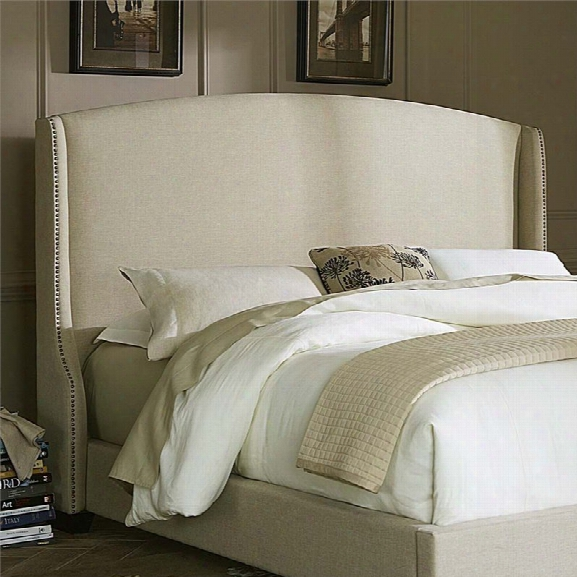 Liberty Furniture Linen Upholstered King Wing Headboard In Natural