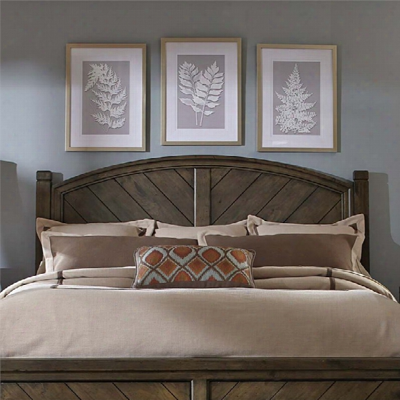 Liberty Furniture Modern Country King Poster Headboard In Brown