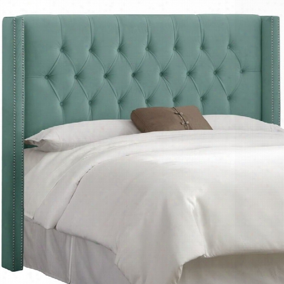 Skyline Upholstered Diamond King Headboard In Caribbean