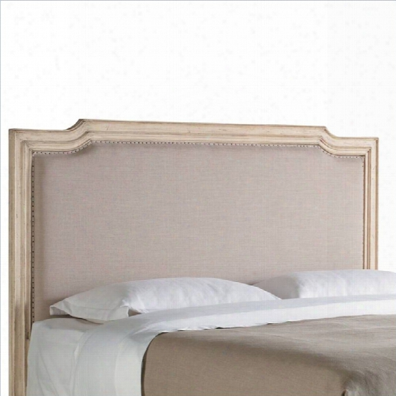 Stanley Furniture European Cottage Upholstered King Headboard In Vintage White And Oatmeal