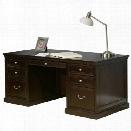 Kathy Ireland Home by Martin Fulton 72 Double Pedestal Executive Desk in Espresso
