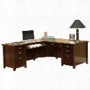 Kathy Ireland Home by Martin Tribeca Loft Cherry LHF L-Shaped Executive Desk
