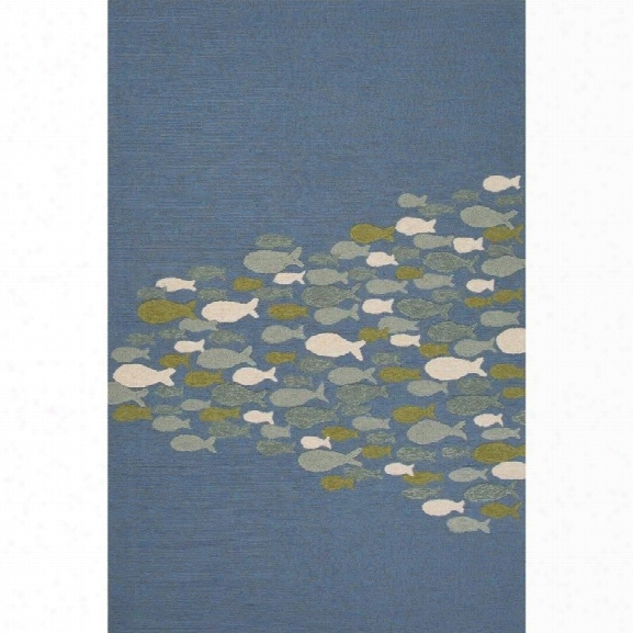 Jaipur Rugs Coastal Lagoon 7'6 X 9'6 Rug In Blue