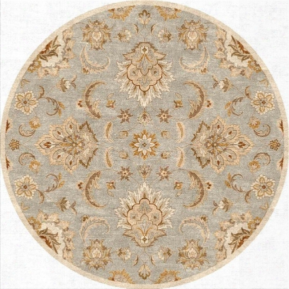 Jaipur Rugs Mythos 10' X 10' Round Hand Tufted Wool Rug In Blue