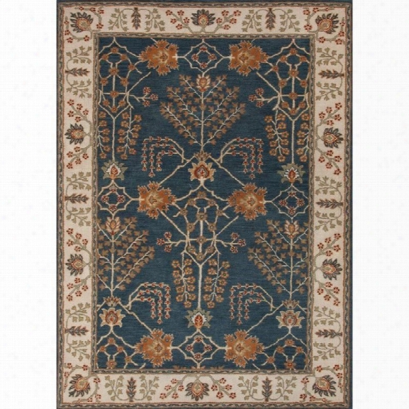 Jaipur Rugs Poeme 9'6 X 13'6 Hand Tufted Wool Rug In Blue And Ivory