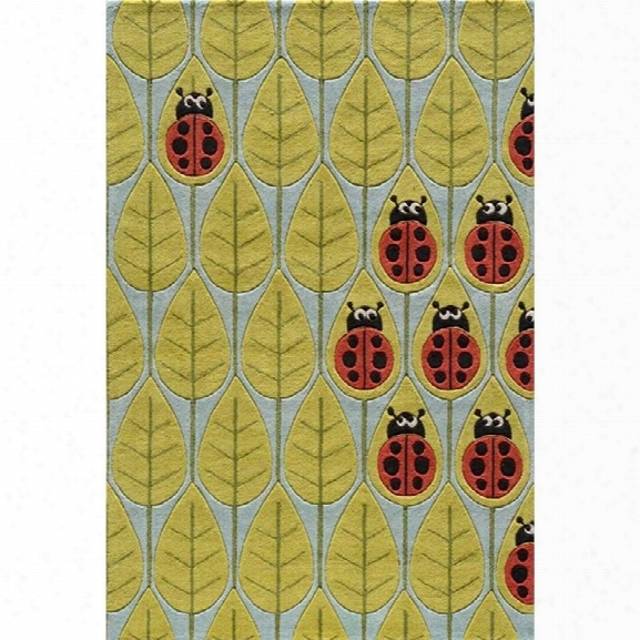 Momeni Lil Mo Whimsy 8' X 10' Rug In Lady Bug Red
