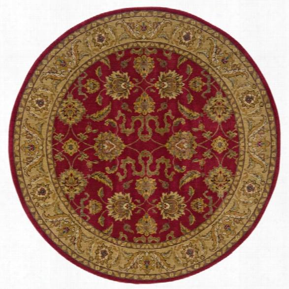 Oriental Weavers Allure 7'8 Round Machine Woven Rug In Red