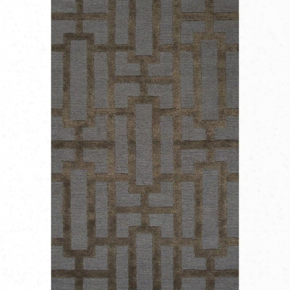 Jaipur Rugs City 8' X 11' Hand Tufted Wool Rug In Blue And Brown