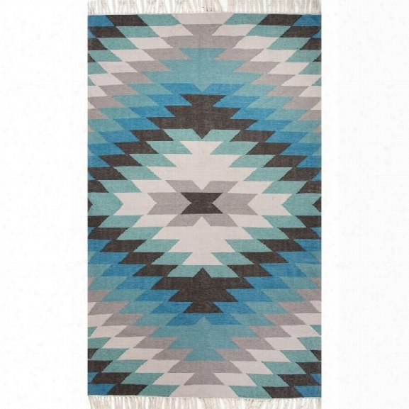 Jaipur Rugs Desert 9' X 12' Polyester Rug In Blue And Green