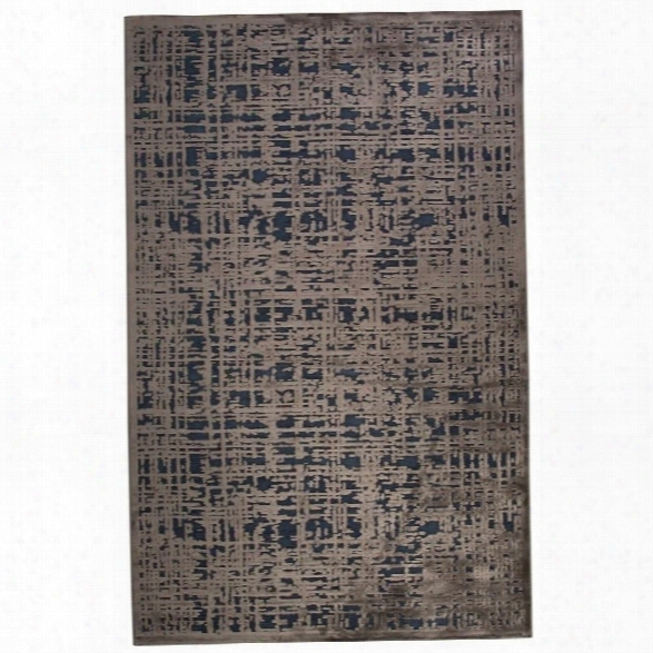 Jaipur  Rugs Fables 7'6 X 9'6 Rayon Chenille Rug In Blue And Gray