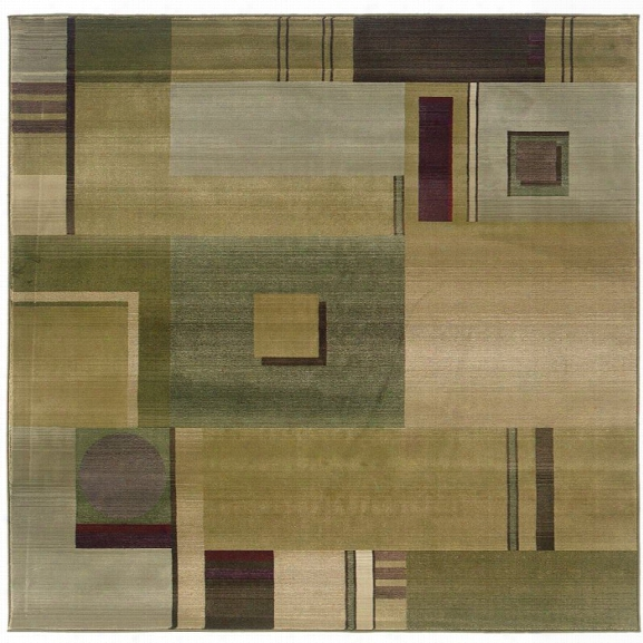 Oriental Weavers Generations 8' Square Machine Woven Rug In Green