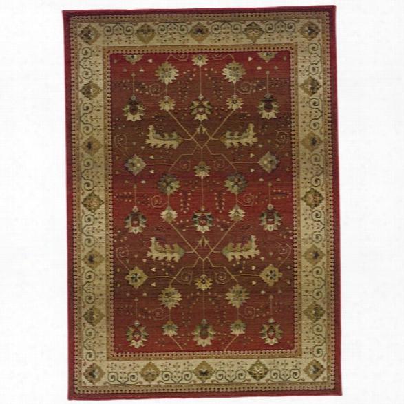Oriental Weavers Genesis 8' Square Machine Woven Rug In Red