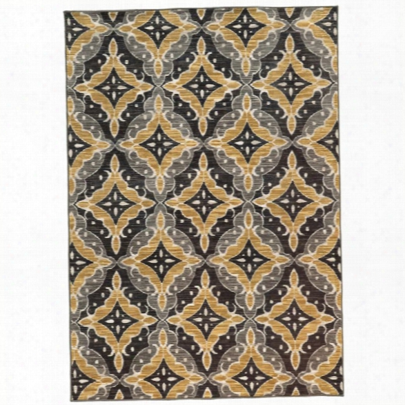 Oriental Weavers Harper 9'10 X 12'10 Machine Woven Rug In Charcoal