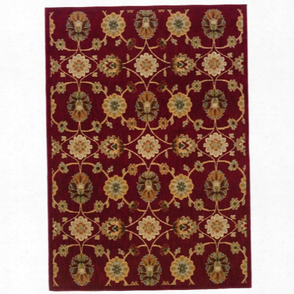 Oriental Weavers Infinity 5'3 X 7'6 Machine Woven Rug In Red