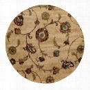Oriental Weavers Hudson 7'8 Round Machine Woven Rug in Tan