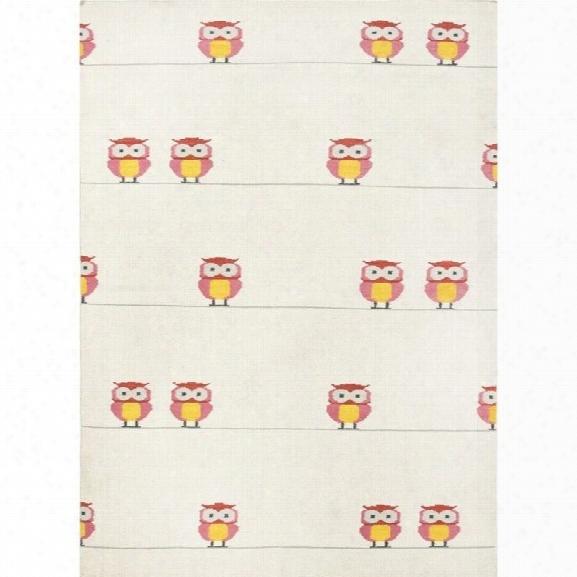 Jaipur Rugs Maroc 9' X 12' Flat Weave Wool Rug In Ivory And Pink