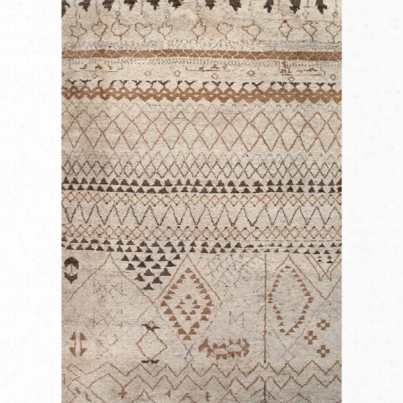 Jaipur Rugs Zuri 9' X 12' Hand Knotted Wool Rug In Ivory And Taupe