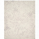 Safavieh Bella 8' X 10' Hand Tufted Wool Rug in Silver and Ivory