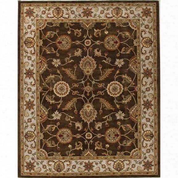 Jaipur Rugs Mythos 12' X 15' Handful Tufted Wool Rug In Brown And Ivory