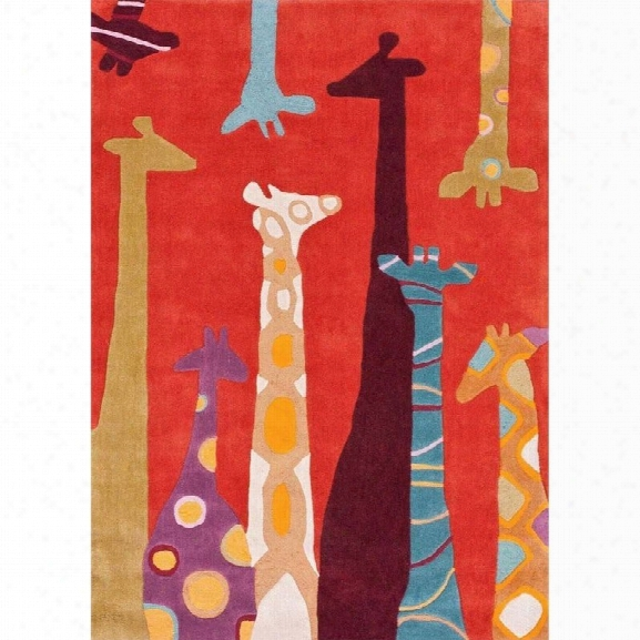 Nuloom 7' 6 X 9' 6 Hand Tufted Giraffe Rug In Red