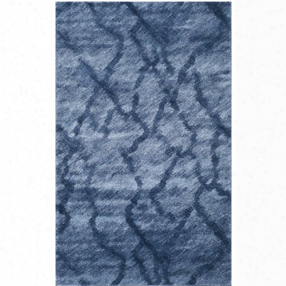 Safavieh Retro 10' X 14' Power Loomed Rug In Blue And Dark Blue