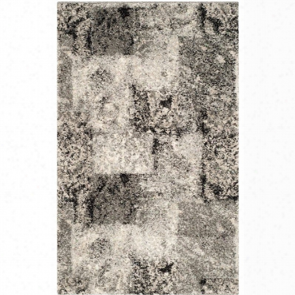 Safavieh Retro 8'9 X 12' Power Loomed Rug In Cream And Gray