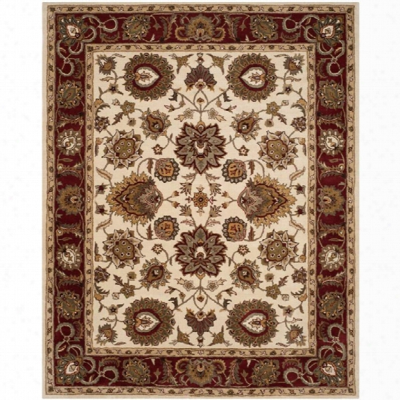 Safavieh Royalty 8' X 10' Hand Tufted Wool Pile Rug In Ivory And Red