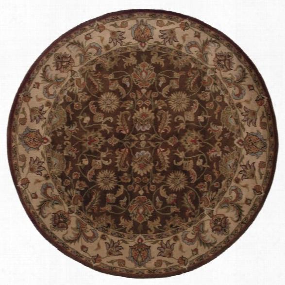Oriental Weavers Windsor 7'6 Round Hand Tufted Rug In Brown