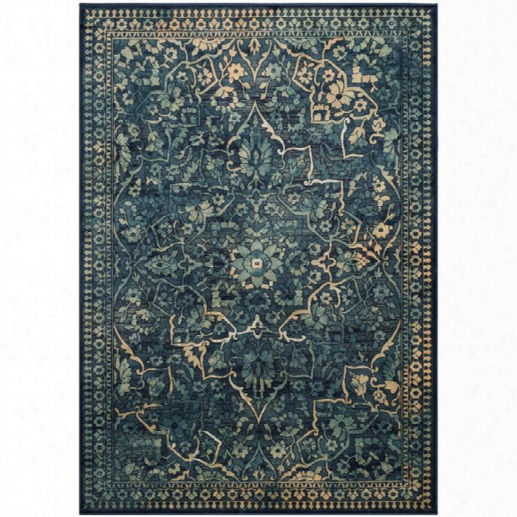 Safavieh Vintage 8'10 X 12'2 Power Loomed Rug In Blue And Yellow