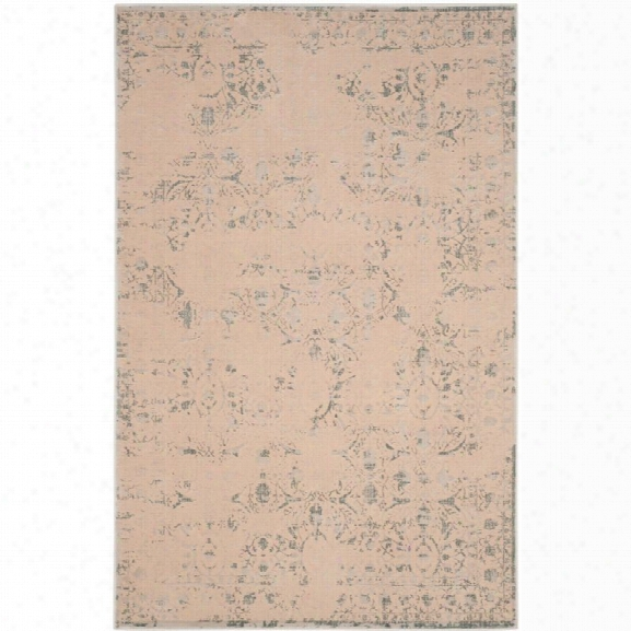 Safavieh Brilliance 9' X 12' Power Loomed Rug In Cream And Light Blue
