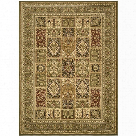 Safavieh Lyndhurst 12' X 18' Power Loomed Rug In And Green