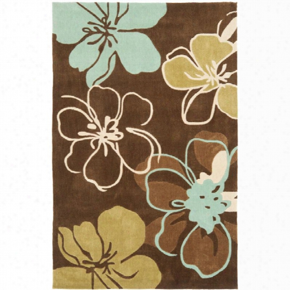 Safavieh Modern Art 9' X 12' Hand Tufted Polyester Rug In Brown