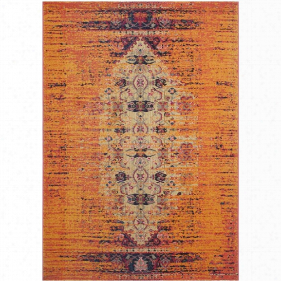 Safavieh Monaco 11' X 15' Power Loomed Polypropylene Rug In Orange