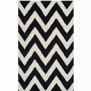 Safavieh Cambridge 10' X 14' Hand Tufted Wool Rug in Black and Ivory