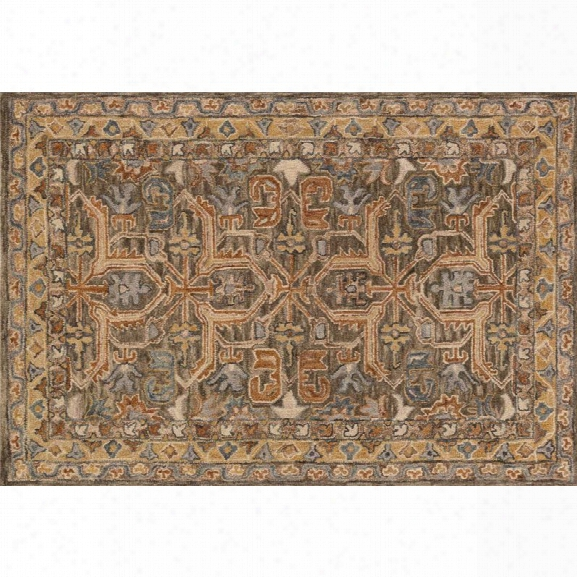 Loloi Victoria 9'3 X 13' Hand Made Wool Rug In Walnut