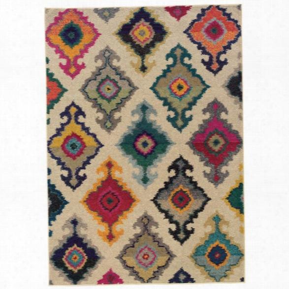 Oriental Weavers Kaleidoscope 7'10 X 11' Machine Woven Rug In Ivory