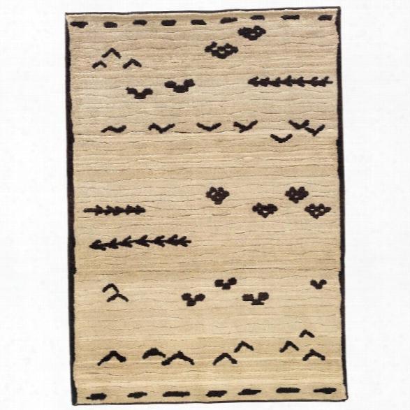 Oriental Weavers Marrakesh 6'7 X 9'1 Machine Woven Rug In Ivory