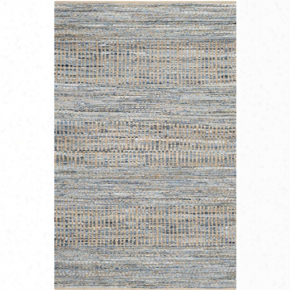Safavieh Cape Cod 11' X 15' Handmade Jute Rug In Natural And Blue